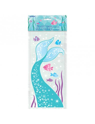 "MERMAID CELLO BAGS 11""X5"" (20)"