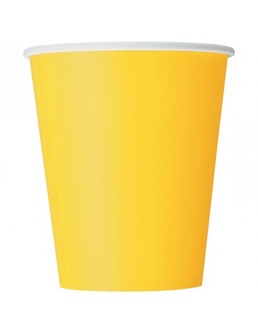 9 OZ GLASS (20) DARK YELLOW
