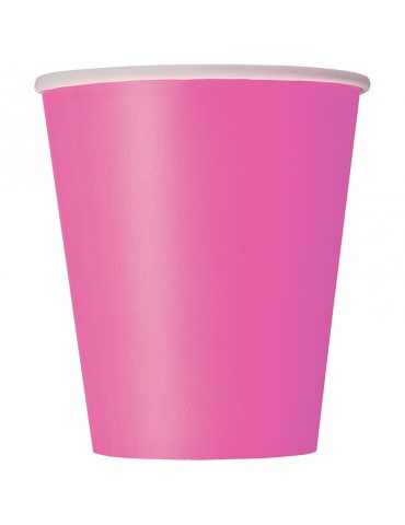 9 OZ GLASS (20) CANDY PINK