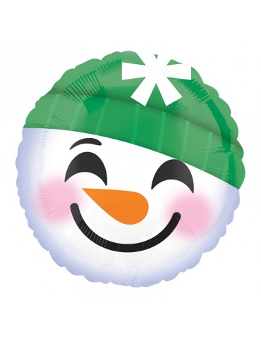 18'' MYLAR - SNOWMAN EMOTICON