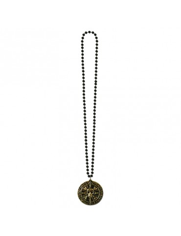 COLLIER 36'' MEDAILLON PIRATE