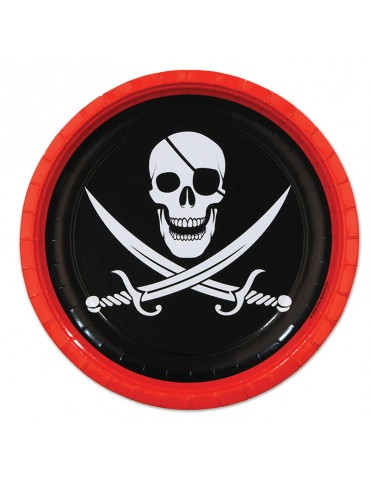 "ASSIETTE 9"" PIRATE (8)"