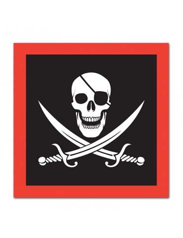 SERVIETTE LUNCH PIRATE (16)