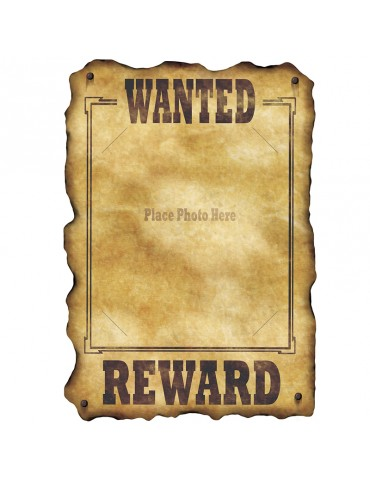 "WESTERN SIGN ""WANTED """