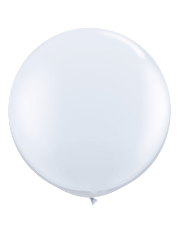 3' BALLOON - WHITE