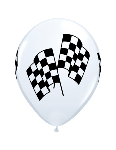 11'' BALLOON - RACING FLAG...