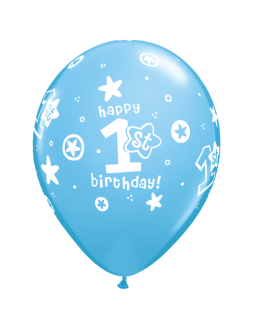 BALLON 11''  '1ST BIRTHDAY'...