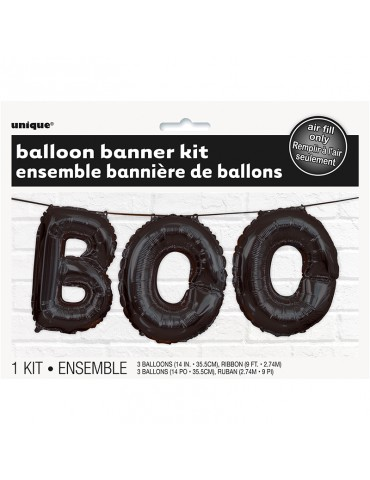 BALLOON BANNER KIT - BOO 14""