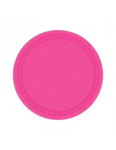 7'' PLATE - CANDY PINK (20)