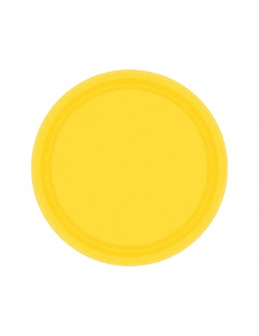 7'' PLATE - SUNNY YELLOW (20)