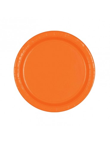 "ASSIETTE 7"" ORANGE (20)"