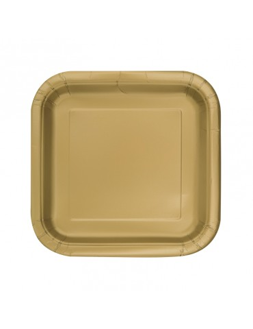 "ASSIETTE CARREE 7"" OR (16)..."