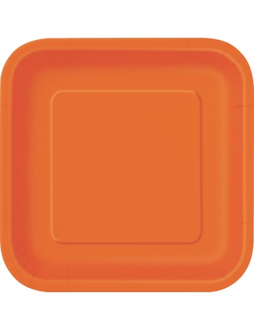 "ASSIETTE CARREE 9"" ORANGE..."
