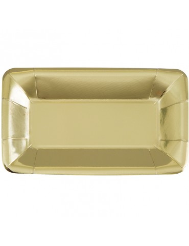 GOLD FOIL RECTANGULAR PLATE...