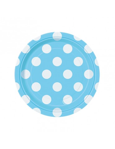 7'' DOTS PLATE - POWDER...