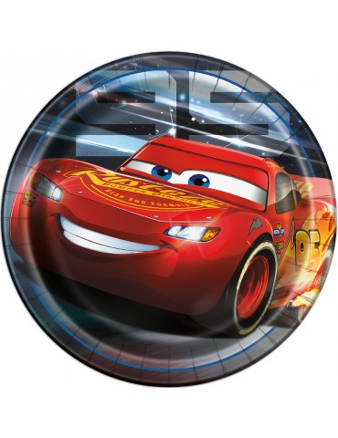 "9"" PLATE - CARS 3 (8)"