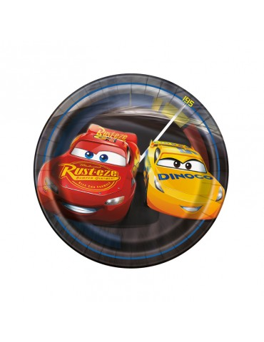 "7"" PLATE - CARS 3 (8)"