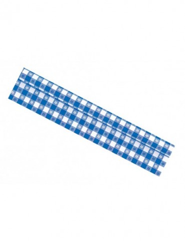 WHITE & BLUE TABLECOVER ROLL