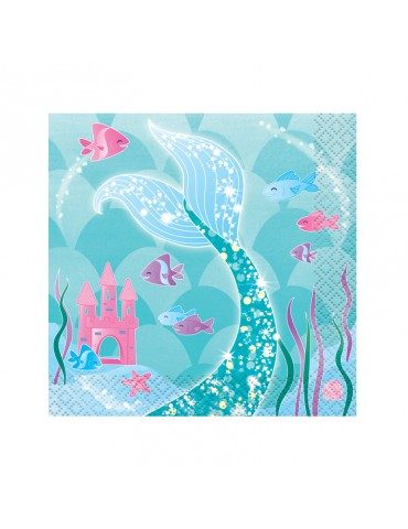MERMAID BEVERAGE NAPKIN (8)