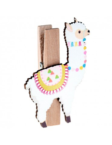 MULTICOLOR LLAMA ON PEG (4)