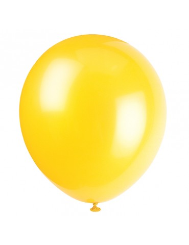 "12"" BALLOON - YELLOW (10)"