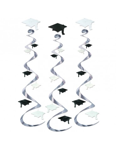 "30"" GRAD CAP WHIRLS - BLACK..."