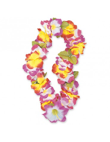 40'' FLUO FLOWER HAWAIIAN LEI
