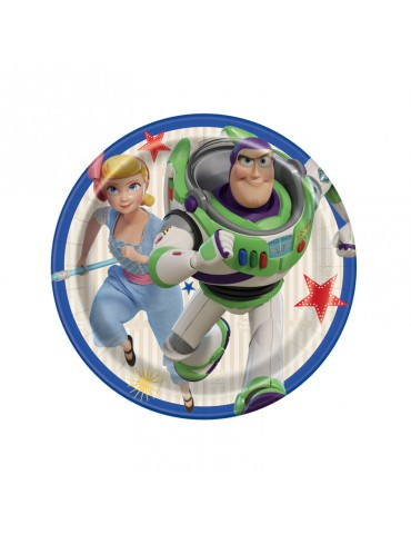 "TOY STORY 4 7"" PLATE (8)"