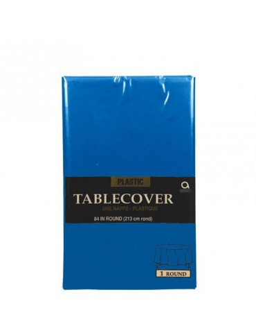 84'' ROUND TABLECOVER - BLUE