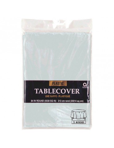 84'' ROUND TABLECOVER - SILVER