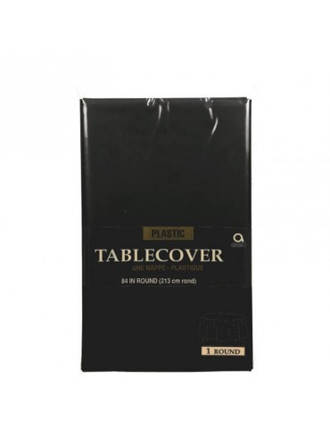 84'' ROUND TABLECOVER - BLACK