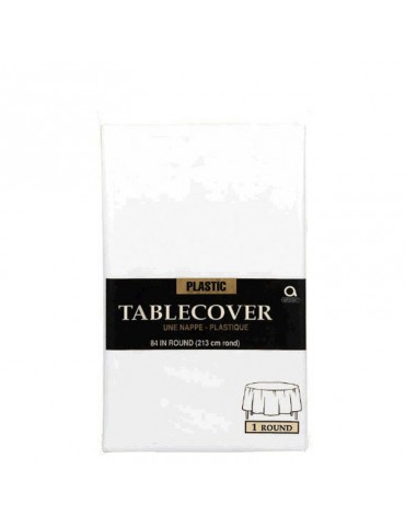 84'' ROUND TABLECOVER - WHITE