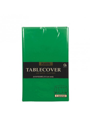 84'' ROUND TABLECOVER - GREEN