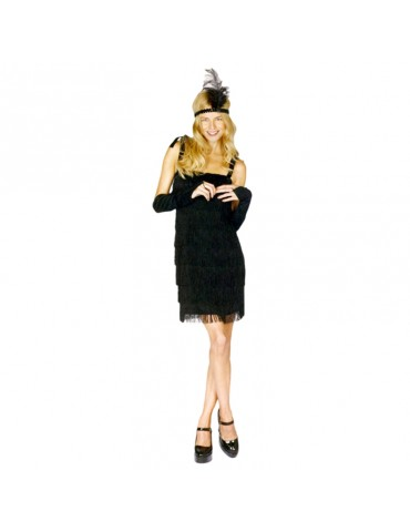 FLAPPER COSTUME (BLACK)