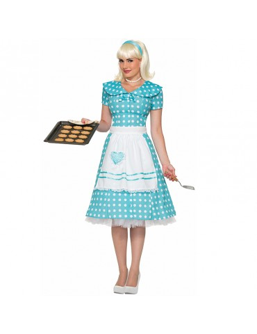 50'S HOUSEWIFE BLUE COSTUME
