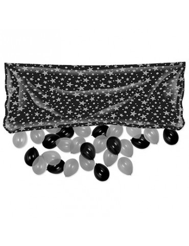 PLASTIC BALLOON BAG BLACK...