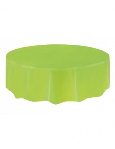 """NAPPE RONDE 84"""" VERT LIME"""