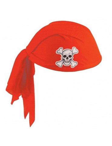 CHAPEAU PIRATE ROUGE