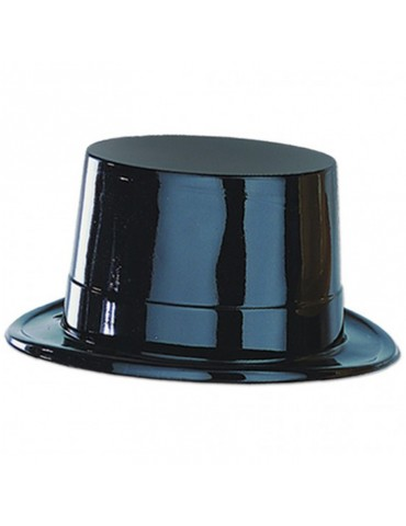 PLASTIC TOP HAT - BLACK