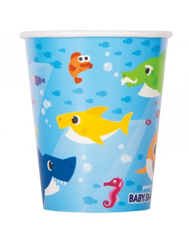 "VERRE 9OZ ""BABY SHARK"" (8)"