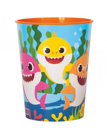 BABY SHARK 16OZ PLASTIC CUP