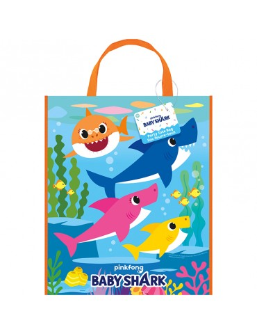 "BABY SHARK TOTE BAG 13""X11"""