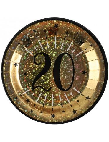 """ASSIETTE 9"""" OR  NO.20 (10)"""