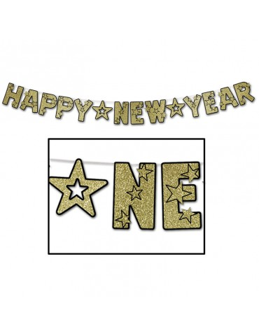 BANNIERE 'HAPPY NEW YEAR' OR