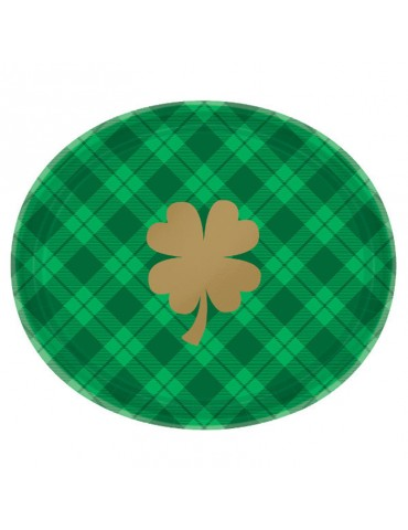 GOLD SHAMROCK OVAL PLATE...