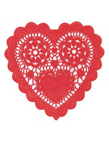 HEART SHAPED PAPER DOILIES...