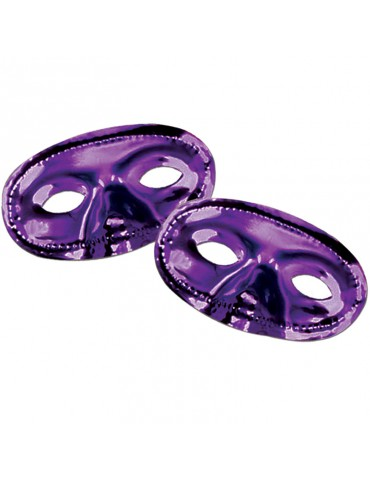 METALLIC HALF MASK - PURPLE
