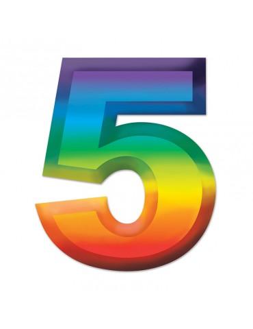 "11"" PLASTIC NUMBER NO.5"