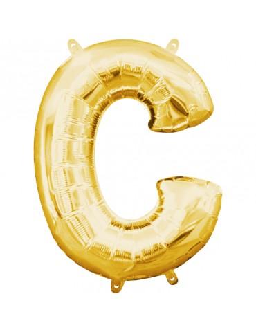 16'' SHAPE - LETTER C (GOLD)