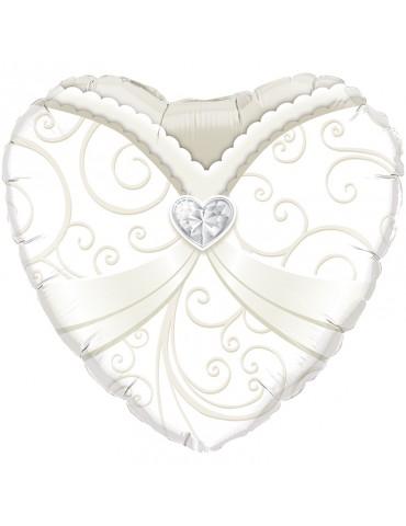 18'' HEART - WEDDING GOWN